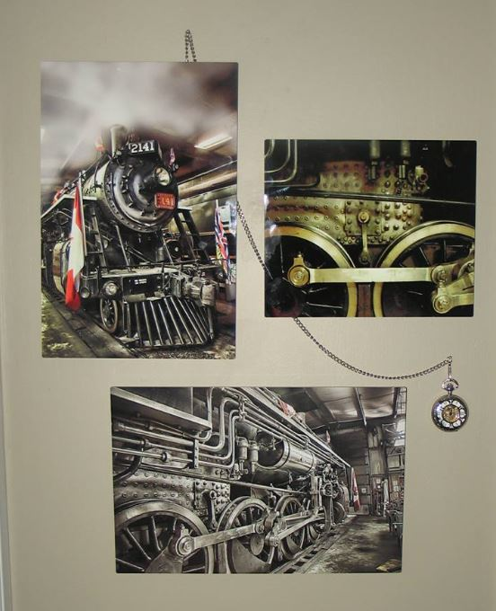 A very happy customer sent me a picture of his display of three of my train images printed on metal that he purchased (the railroad watch is his own). https://theresa-tahara.pixels.com/collections/all+trains+and+tractors… #trains #train #railroad #locomotive #vintage #steamtrain #giftideas #bc #Kamloops