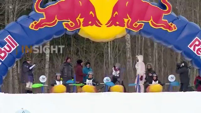 Estonian hillside hosts nearly 180 contestants for a snowboating race. See more in this week's ICYMI playlist https://reut.tv/2LtiDcY via @ReutersTV