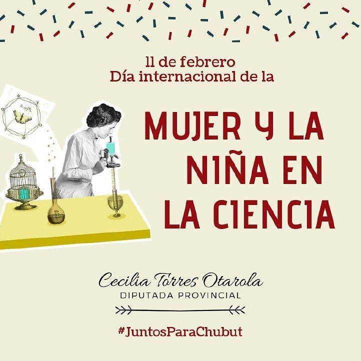 """#11F2019 #MujeresEnCiencia; que dedican su esfuerzo a la #ciencia, #tecnología e #innovación.  La brecha de género es también un problema en la ciencia #UnaTematicaMas  #JornadadeEncuentroReflexiónyDebate  #18defebrero #""""Día Mundial de la Mujer de las Américas"""" #JuntosParaChubut"""
