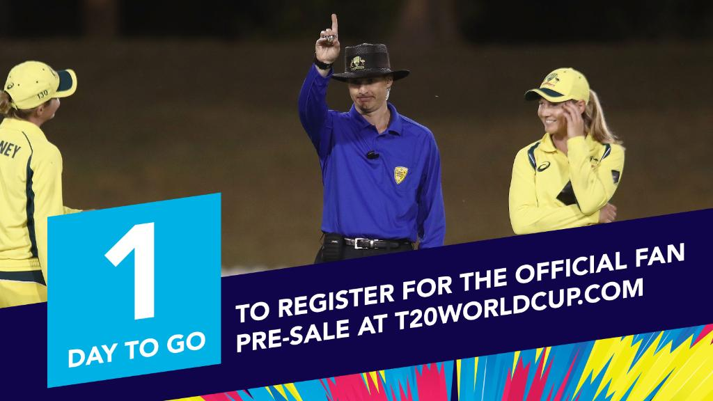 You're not out of chances yet, but there's only one day left to register for early access to tickets for the ICC Women's T20 World Cup!  👉 http://www.T20WorldCup.com