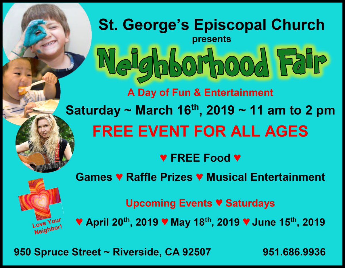 Its a beautiful day in the neighborhood ... So check out this upcoming Neighborhood #Fair next to #UCRiverside.