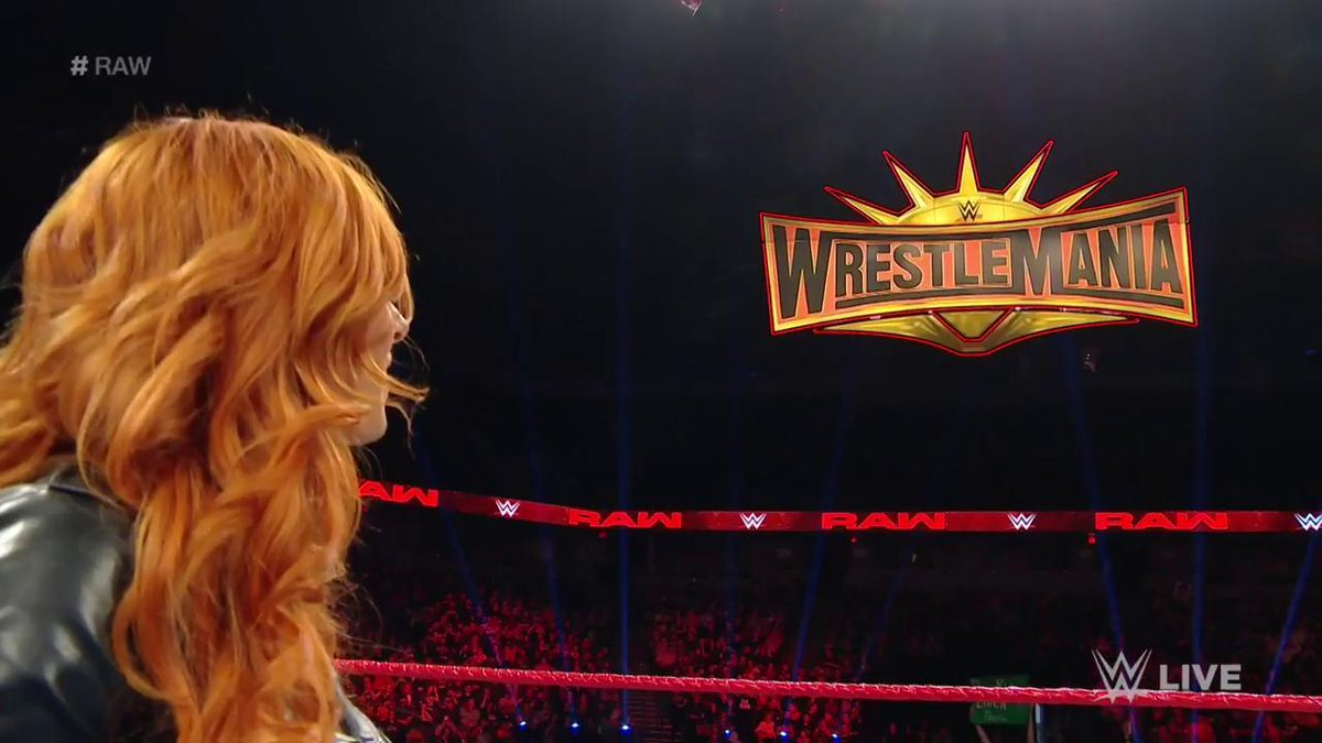 SUSPENSION = LIFTED.  @BeckyLynchWWE is going to @WrestleMania after all! #RAW #WrestleMANia