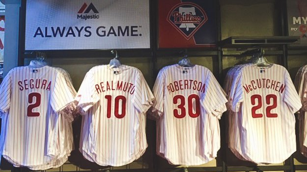 2️⃣ 🔟 2️⃣2️⃣ 3️⃣0️⃣  There is still time to enter to win one of these jerseys!  Jerseys are also available at the team store at Citizens Bank Park for the 4,000+ who don't get selected.