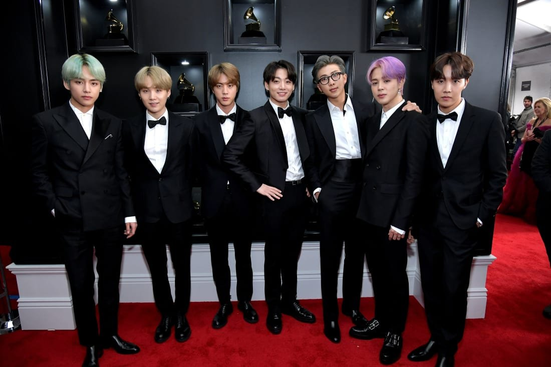 K-pop sensations BTS used the #Grammys red carpet to showcase the work of South Korean designers  https://t.co/zurWGEbTsh