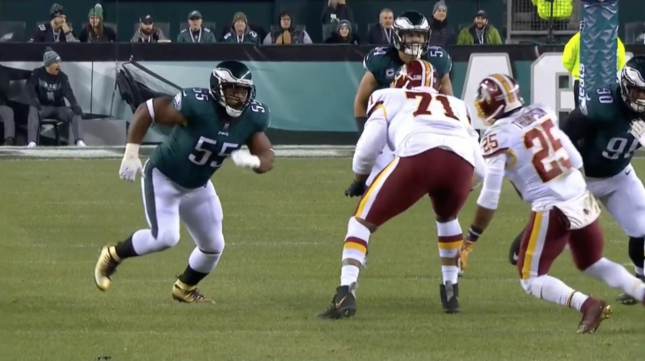 So scary off the edge. ��  @brandongraham55's BEST plays from the @Eagles' 2018 season! https://t.co/BocGfhPv6I