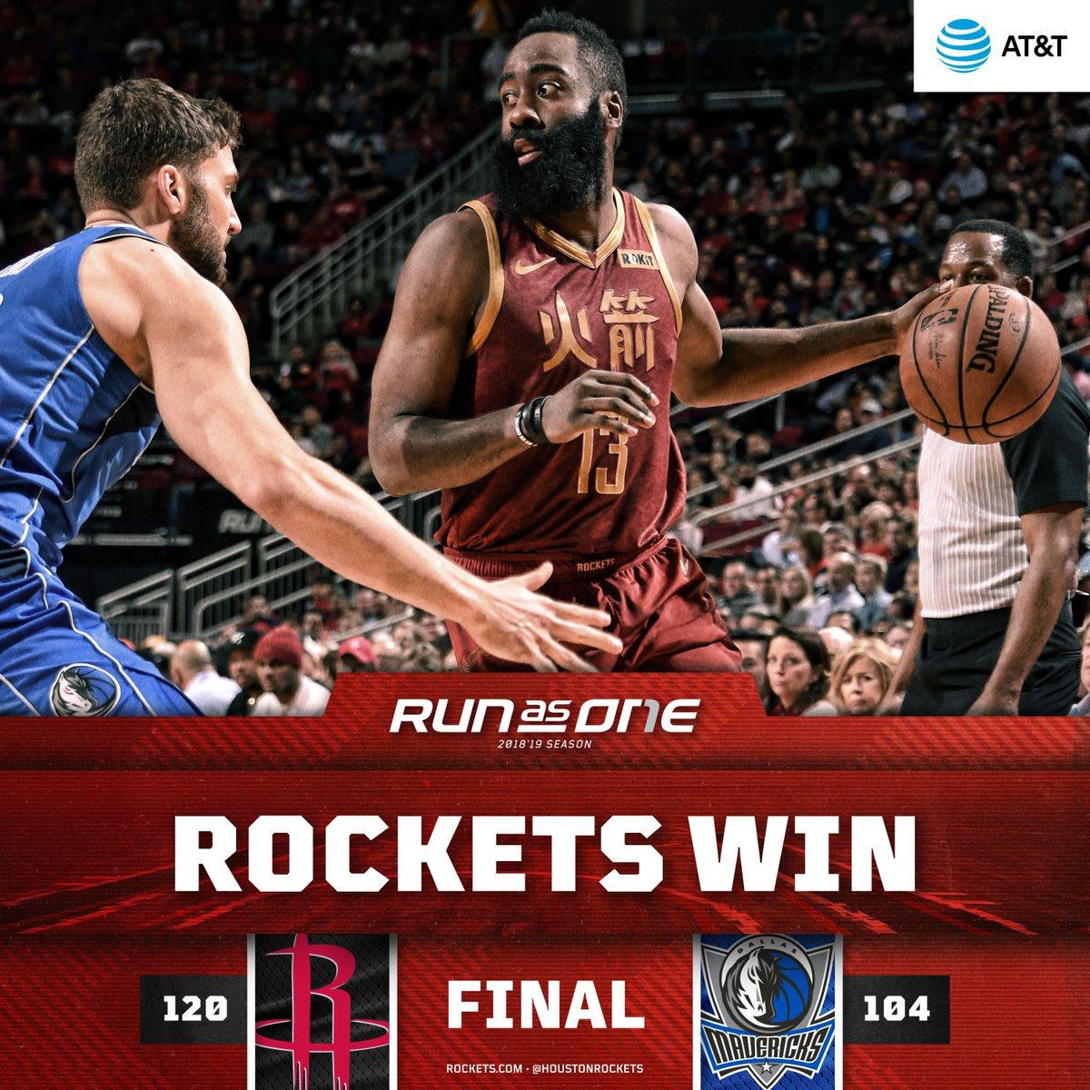 Rockets Win Big in H-Town!   #RunAsOne 🚀