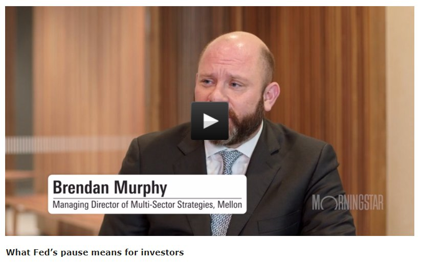 .#FederalReserve's pause on rate rises a relief for equity markets and riskier types of credit, but investors should brace for increases later in '19, Mellon's head of multi-sector strategies Brendan Murphy tells @gl3nnfreeman | Watch: https://bit.ly/2TRsYTi