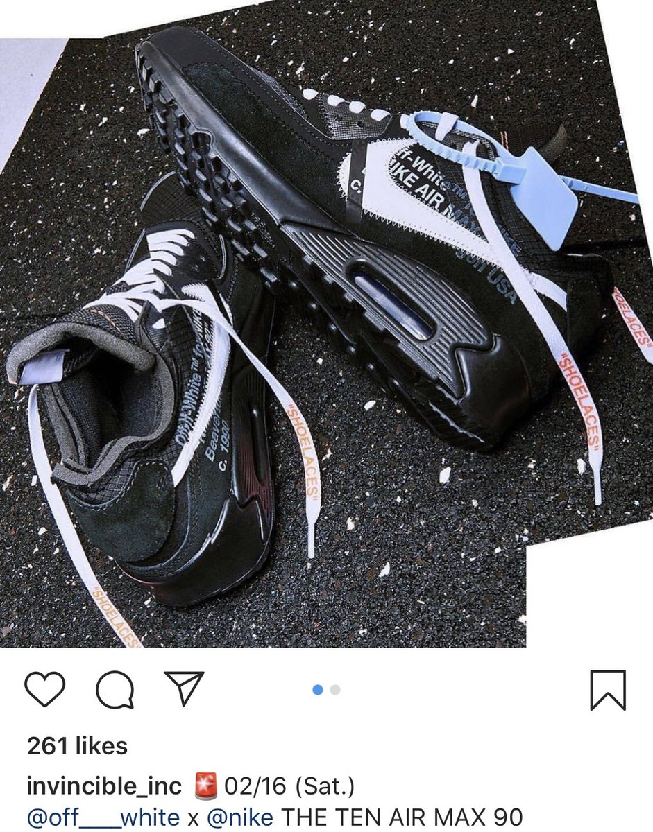 air max 90 off white nere