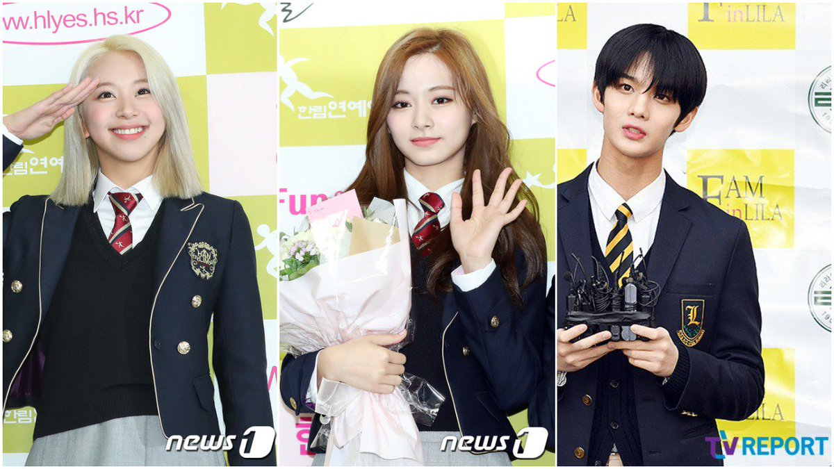 Full list of graduating idols including: #TWICE Tzuyu and Chaeyoung  #WannaOne Jinyoung  #IZONE Kim Chaewon #ASTRO Sanha  #fromis9 Lee Chaeyoung  and more !   https:// kpopping.com/news/16163-Ful l-List-of-Idols-Graduating-High-School-Today &nbsp; … <br>http://pic.twitter.com/WL9U2WPdNr