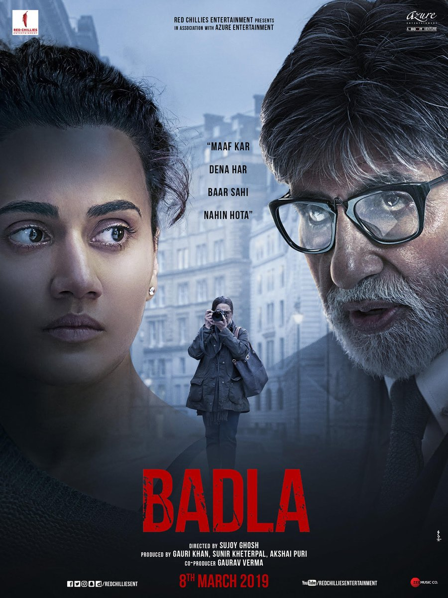 Amitabh Bachchan's photo on #BadlaTrailer