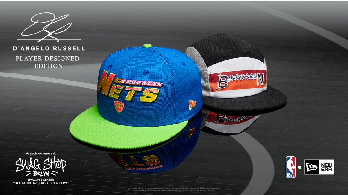.@dloading teamed up with @neweracap to create a custom player cap collection. Limited supply available exclusively at the Swag Shop and http://netsstore.com/collections/hats/dangelo-russell…
