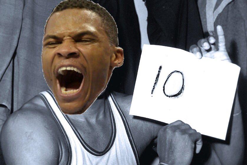 Amazing photoshopping from the internet. 📸💻✂️🏀 #ThunderUp #RussellWestbrook #TripleDoubleKing