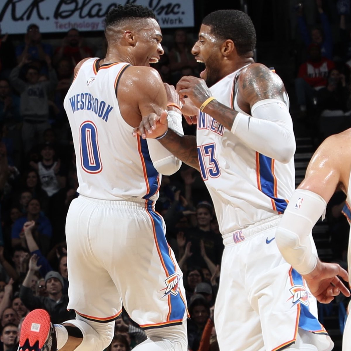 So how was YOUR night?   First Thunder teammates ever with #DoubleTripleDouble  Only 10th time in 60+ years of the  @NBA