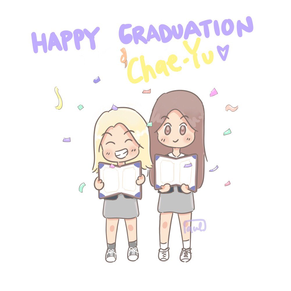 🍓🐯🍊🌈🦀's photo on #ChaeTzuGraduationDay