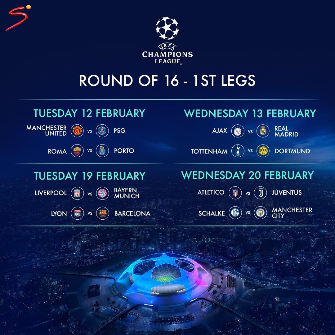 @LuyandaMarenene The UEFA Champions League is BACK with a bang 💥  Who are you backing in the knockout stage? Reply #stop to opt-out.