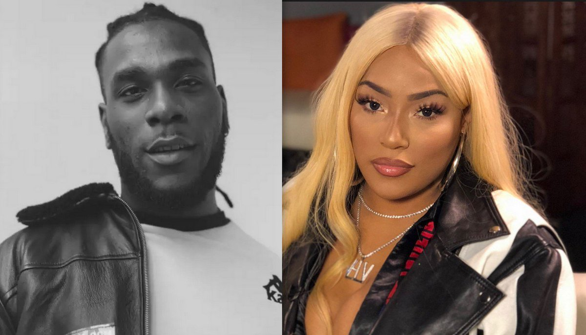 DzM1UQ UcAIcqYm - Just In: Burna Boy Caught All Loved Up In Bed With British Rapper, Stefflon Don. (Video)