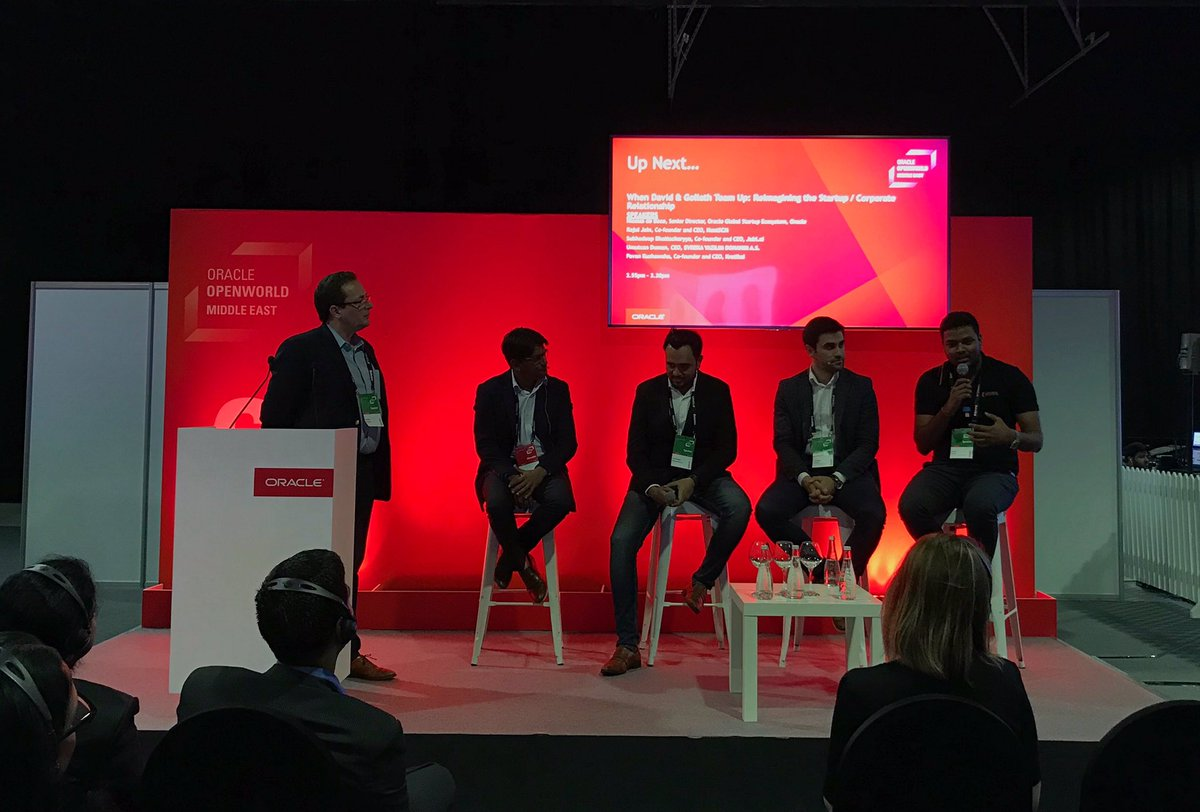 On the second day of Oracle OpenWorld Middle East, Evreka's CEO Umutcan Duman is speaking on the panel to share his views on startup-corporate relationship. #Evreka #CreatesSmartCities #OOWDXB <br>http://pic.twitter.com/t69FmcXcGR