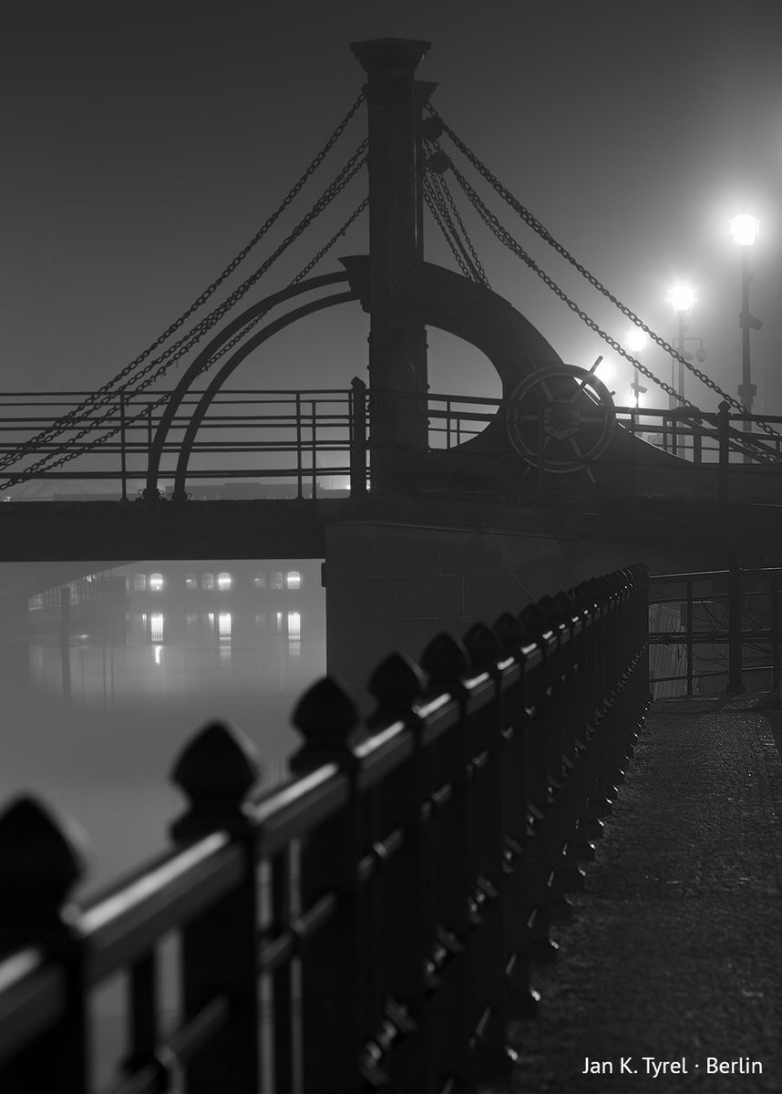 """In the depth of night I'm looking for those who lived there. Those who laughed. Those who loved. Those who experienced daily pain. Their names have disappeared. Their voices have gone silent. But they are still there. Under stairs, behind railings & curbs"" #filmnoir #fog #berlin"