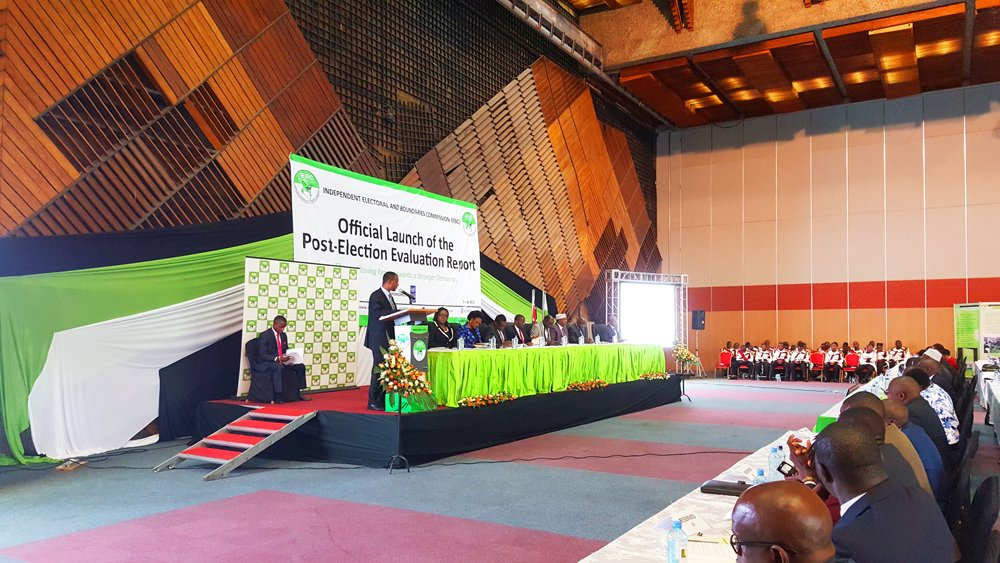 Image result for images of the IEBC's launch of the 2017 post-election evaluation report