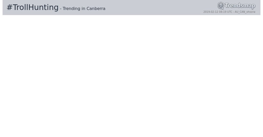 Trendsmap Canberra's photo on #trollhunting