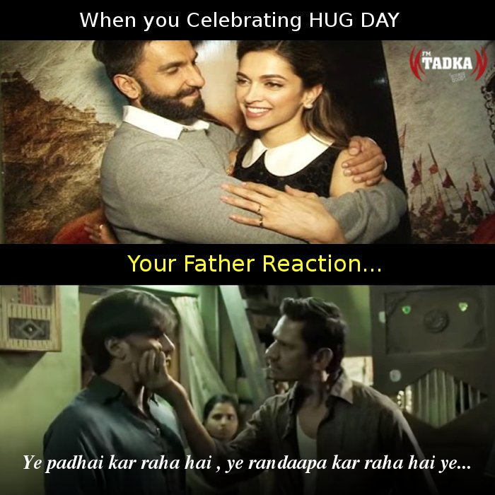 Fm Tadka On Twitter Hugday Your Father Reaction When You