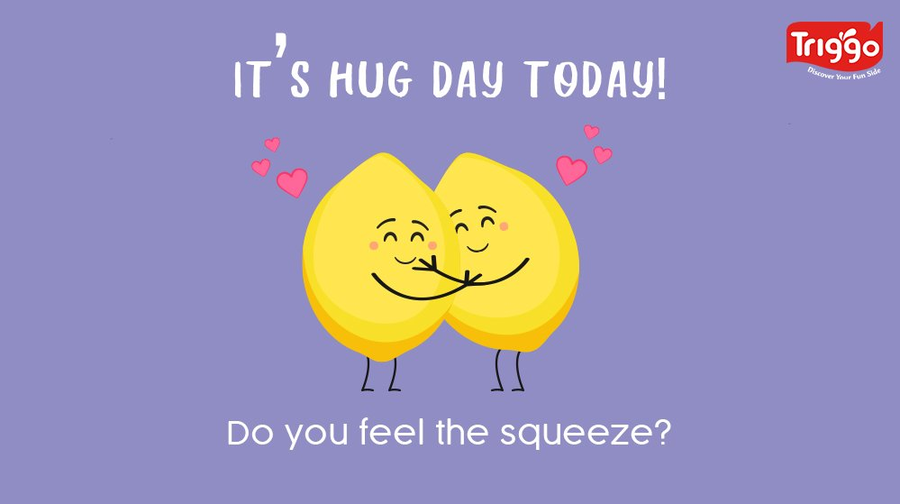Hugs mean love, comfort and happiness  Lots of squishy hugs