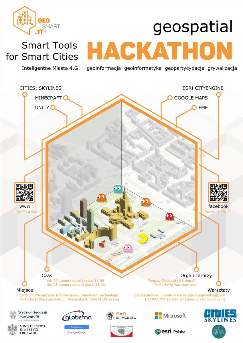 Geospatial Hackathon 2019 już wkrótce! Zapraszamy wszystkich, którzy chcą spróbować swoich sił w tworzeniu aplikacji wspierających rozwój przestrzeni miejskiej (z pomocą FME!). Organizatorem wydarzenia jest @PW_edu , a @Globema dumnie je wspiera :) https://fme.globema.pl/2019/02/12/geospatial-hackathon-2019/…