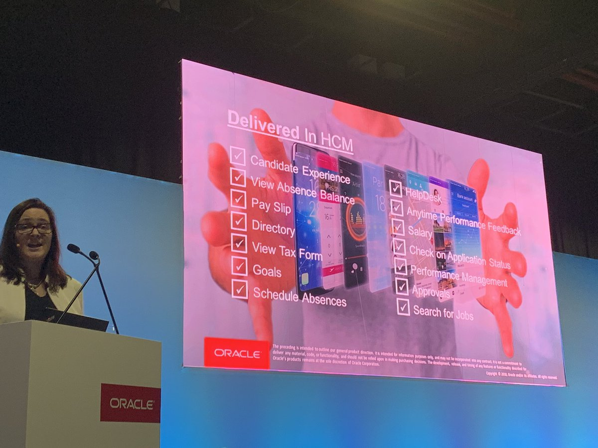 Digital assistant skills in HCM cloud so employees can interact via a messaging interface with @Oracle HCM SaaS @GretchenA Lots of #AI built in, leveraged for advanced HCM risk controls #OOWDXB <br>http://pic.twitter.com/WFEq7VRCxK