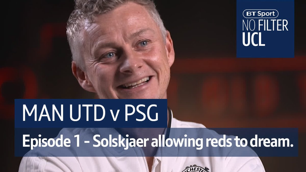 """""""Man Utd is about dreaming, and he's allowing us to dream.""""  Ole's at the wheel...  But can he steer Man Utd towards European glory?  The Theatre of Dreams awaits the visit of PSG 🙌 #NoFilterUCL"""