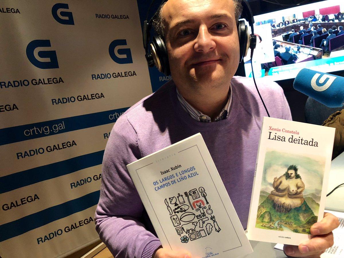 No @diariocultural_ falamos de literatura con @armandorequeixo. Hoxe, con propostas de @isaacxubin e @xesusconstela. Na @RadioGalega e http://radiogalega.gal.