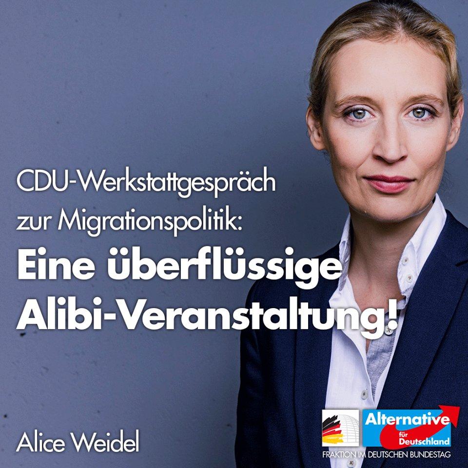 Alice Weidel's photo on #Werkstattgespräch