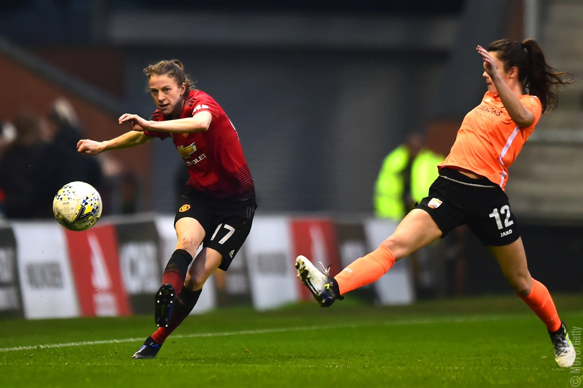 🏟️ Full details of our #SSEWomensFACup fifth-round tie v London Bees...  📆 Sunday 17 February 🏟️ Ewen Fields, Hyde 2️⃣ 14:00 GMT kick-off  #MUWomen