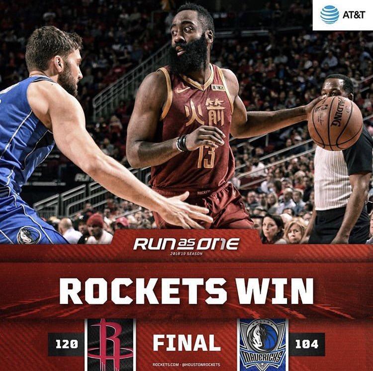 Rockets 🚀 Win!! #rocketswin #rockets #rocketsvsmavericks #houstonrockets #houstonrocketsvsdallasmavericks #toyotacenter #toyotacenterhouston #basketball #houstonrocketsbasketball #nba #espn #jamesharden #cp3 #sportscenter #runitback #runasone #rednation #clutchcity – at Toyota Center