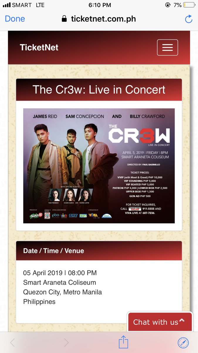 #JoinTheCr3wOnApril5  For tickets, visit  https://www. ticketnet.com.ph/events/detail/ The-Cr3w-Live-in-Concert &nbsp; … <br>http://pic.twitter.com/lsV3JJE1U3