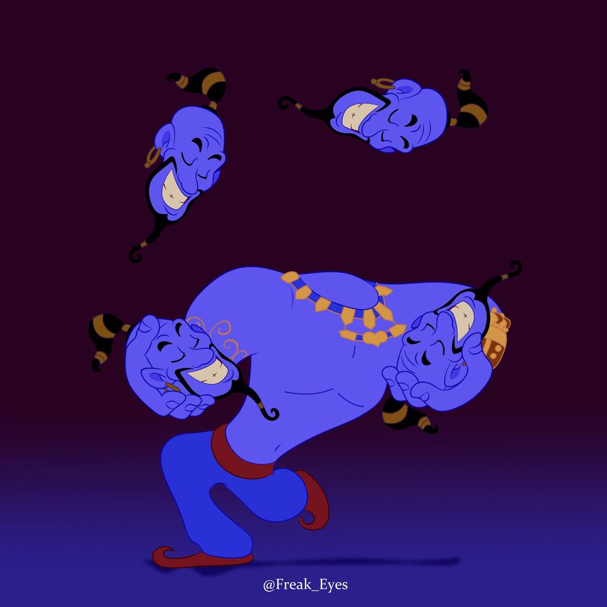 my version of will smith as the genie of Aladdin in animation film  #Aladdin #WillSmithGenie <br>http://pic.twitter.com/0Yiikqxzgu
