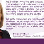 We're pleased to support a new campaign from @DHSCgovuk which aims to increase recruitment in the adult social care sector.   https://t.co/kV4Lj3o9fa  #EveryDayIsDifferent