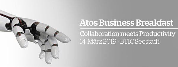 #Collaboration meets #Productivity - Beim Atos Business Breakfast am 14. März...