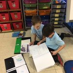 Image for the Tweet beginning: First graders working in pairs