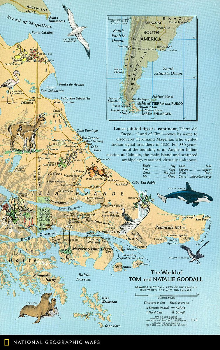 Tip Of South America Map.Natgeomaps On Twitter Map Of The Day Published In January 1971