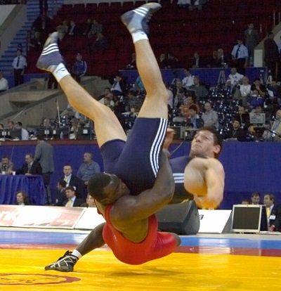 Dremiel Byers is the only U.S. wrestler to win 3 medals at the Greco-Roman World Championships, capturing gold in 2002, bronze in 2007 and silver in 2009. He competed in 8 World Championships and 2 Olympics for USA Wrestling. #BlackHistoryMonth #NWHOF