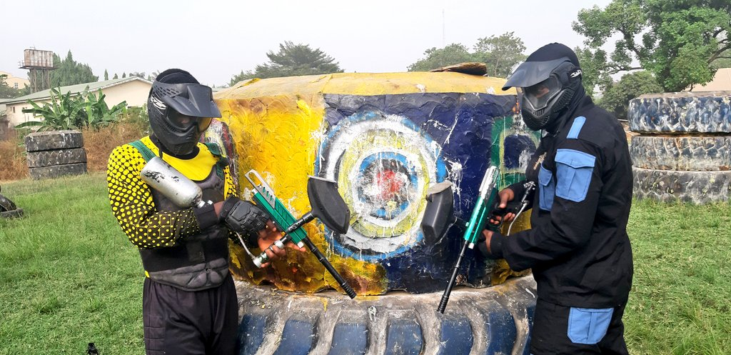 Gen1 vs Gen2.  #WeAreRapid #paintball #Abuja #Fun #action #battlegames #runhideshoot #adventure #extremesport #Weekend #squad #noretreatnosurrender #adrenalin #team #AbujaTwitterCommunity
