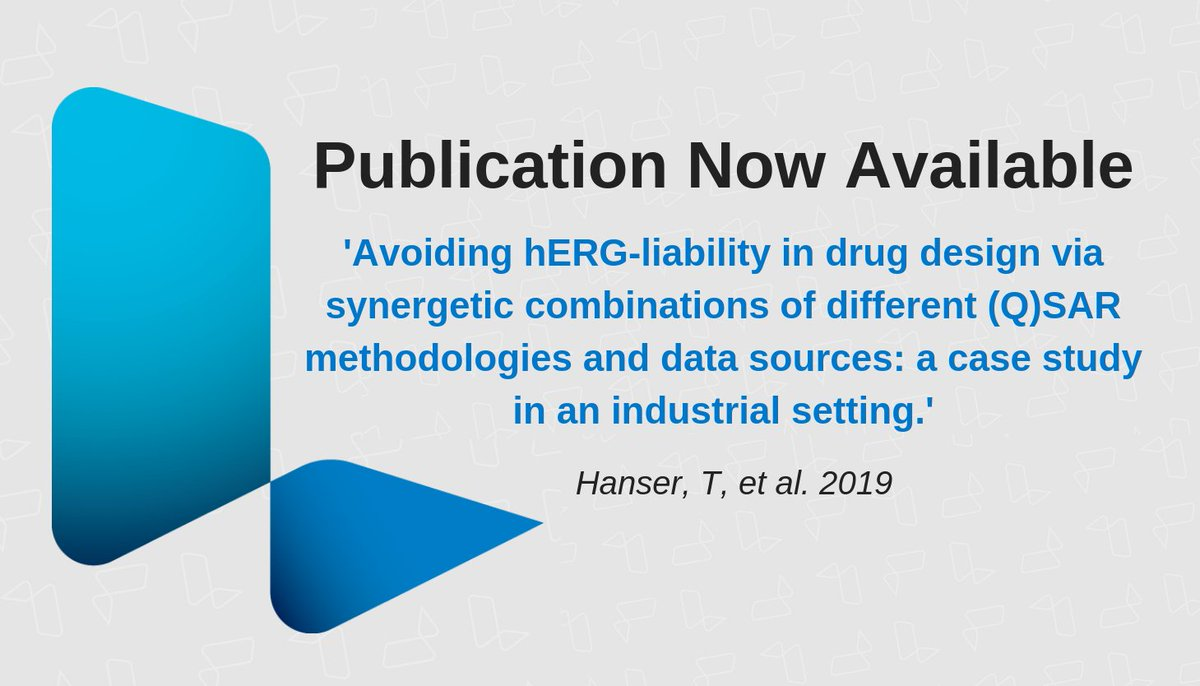 Read this open access paper on 'Avoiding hERG-liability in drug design via synergetic combinations of different (Q)SAR methodologies and data sources: a case study in an industrial setting', by Lhasa Scientist Thierry Hanser, et al. http://bit.ly/2Dvo6wa #InSilico #Paper #QSAR