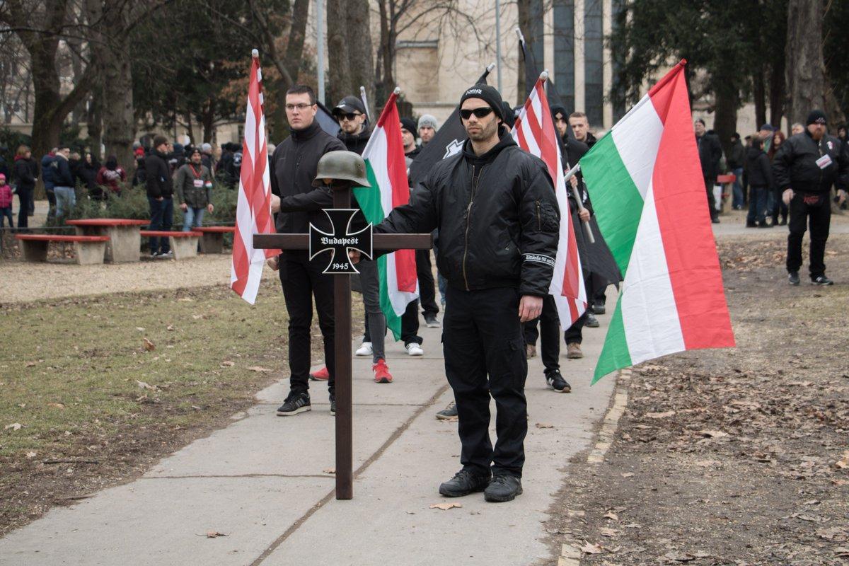Слет неонацистов в Будапеште