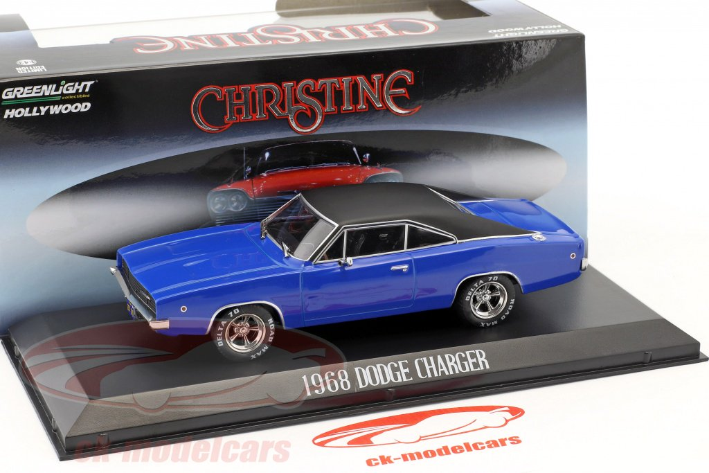 Dodge Charger Christine 1968 blau schwarz Modellauto 1:43 Greenlight Collectible