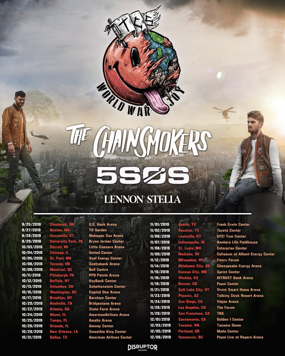 Image result for the chainsmokers tour poster