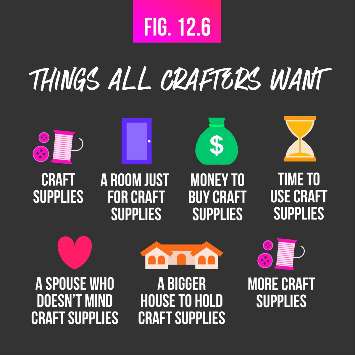 A C Moore On Twitter She Who Has The Most Craft Supplies Wins