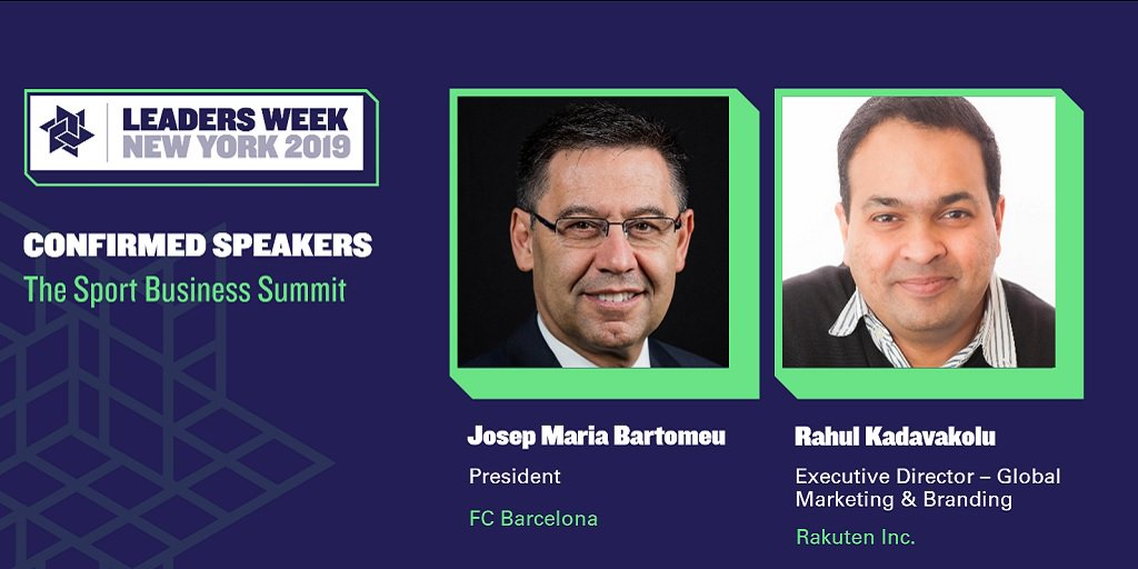 President of 5x Champions League winners.   The chief marketer behind partnerships with @FCBarcelona &amp; @warriors.   The line-up for #LeadersWeek New York isn&#39;t shaping up too badly so far. Here&#39;s who&#39;ll be joining us in May:  http:// bit.ly/2WYALkr  &nbsp;  <br>http://pic.twitter.com/xGH6GMGFqX
