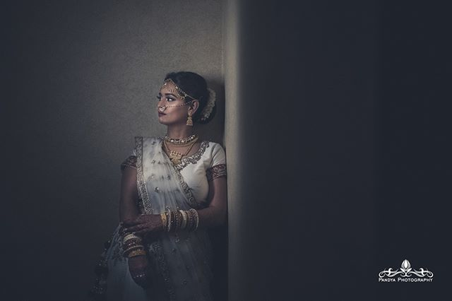 Super early in the morning before the sun was out we captured this beautiful portrait in the most unexpected place....I'll leave it to your imagination.  #pandyaphotography #shotbyabhi #indianweddingphotographer #weddingphotographer #photographer #indianwedding #southasianwe…