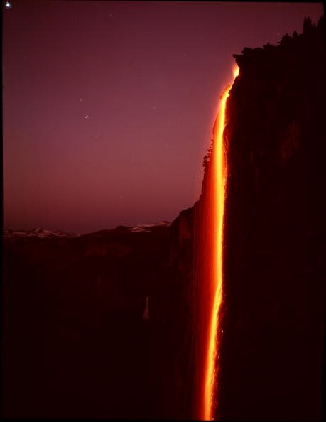 Yosemite Visitors Battle 'Treacherous' Conditions for 'Firefall' View...