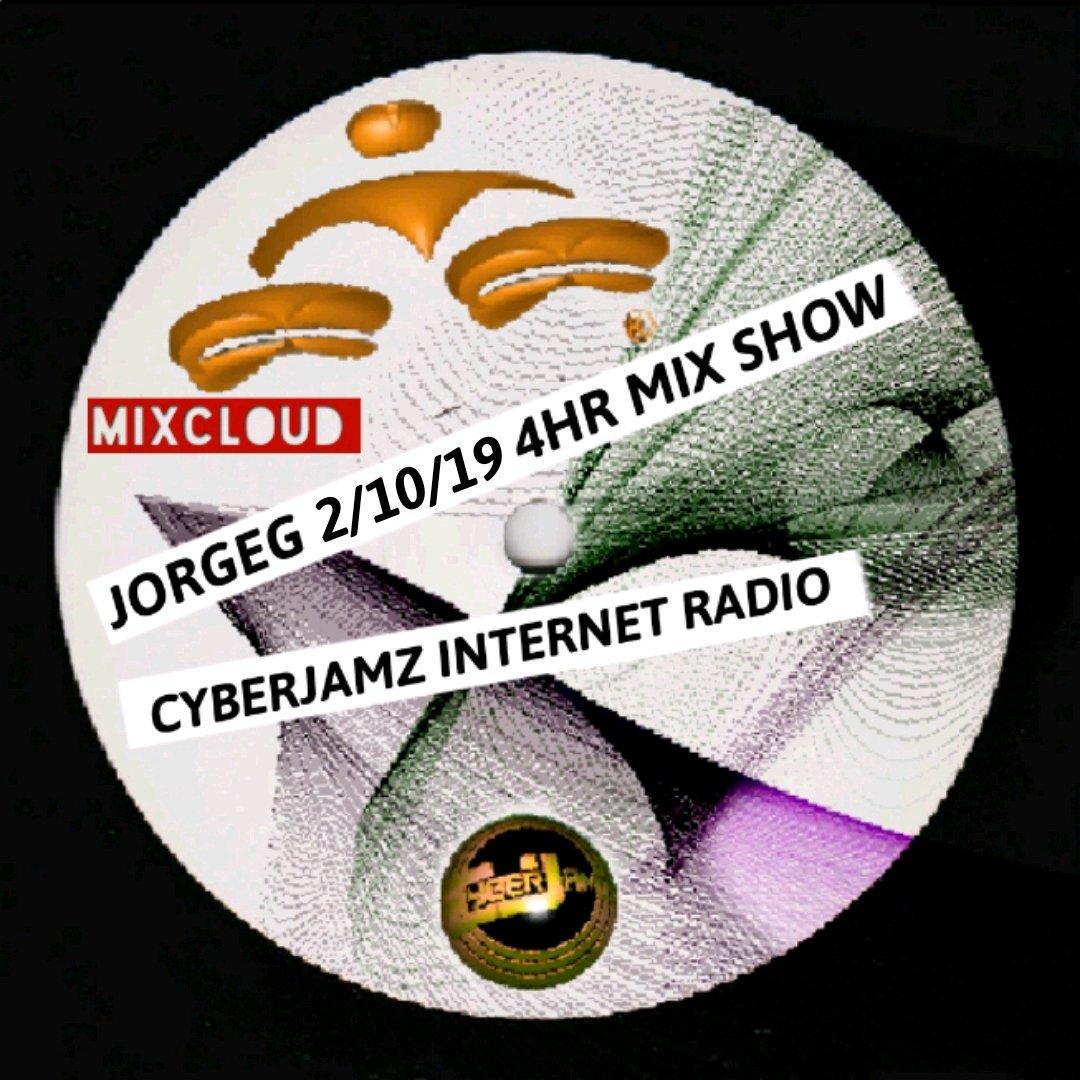 @JorgeG179 ALT #mixcloud LINK my #Sunday 4hr #mixshow on #Cyberjamz #InternetRadio  https://www.mixcloud.com/JorgeGee/02102019-curious-jorge-g-show-4hr-mix-set-via-cyberjamz-internet-radio… #Deephouse #Soulfulhouse #Afrohouse #Housemusic #Garagehouse #Techhouse #Techno #IndieDance #Global #NuDisco  #Disco #Funky #Dance #Mashups #Dj